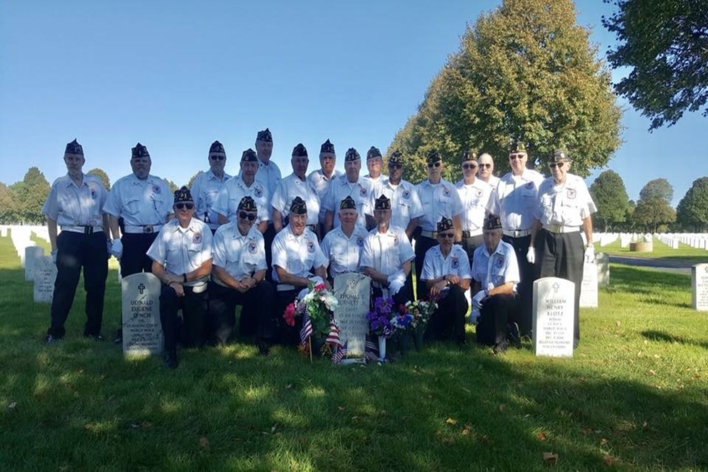 Several of our members are also part of the Fort Snelling Rifle Squad (Honor Guard).
